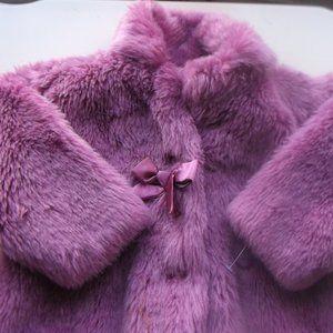 Pink Faux Fur Coat Girl 2T